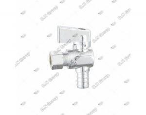 quarter turn angle ball valve 12u2033 pex x 14u2033 od comp